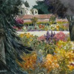 "Gerald Brommer - Carmel Color, The Mission - Watercolor - 11"" x 15"""