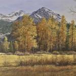 "Fall Afternoon, Kennedy Meadow - 15"" x 30"" - Oil on Canvas - Barbara Conley"