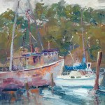 "Guido Frick - Pocket Cove, Moss Landing - Oil - 20"" x 20"""