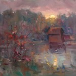 "Guido Frick - Sunset at Bommer Road - Oil - 27.5"" x 31.5"""
