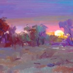 "Guido Frick - Sunset - Oil - 11"" x 14"""