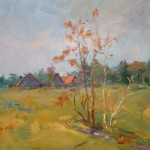 "Guido Frick - Village Field - Oil - 27.5"" x 31.5"""