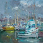 "Guido Frick - Fishing Trawler - Oil - 20"" x 20"""