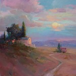 "Guido Frick - Tuscan Dusk - Oil - 36"" x 36"""