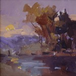 Guido Frick-Sunset at Red River-Oil-7x7