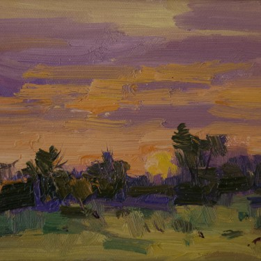 Guido Frick-Summer's Evening-Oil-6x8