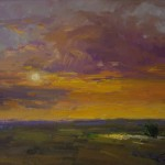 Guido Frick-Sunset On The Plains-Oil-18x24