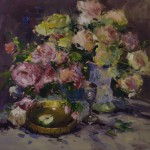 Guido Frick-Bouquet of Roses-Oil-36x36
