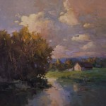 Guido Frick-At The Bend In The River-Oil-36x36
