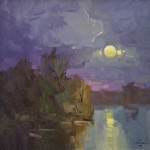 Guido Frick-Early Moon-Oil-20x20