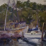 Guido Frick-Pocket Cove, Moss Landing-Oil-20x20