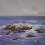 Guido Frick-Bird and Seal Rock, PB-Oil-20x20