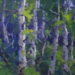 Guido Frick-Aspen Trees in High Country-Oil-18x24