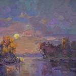 Guido Frick-Sunset at Red River-Oil-30x40