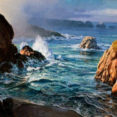 "Michael Godfrey - Pacific Morning - Oil - 48"" x 72"""