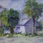 Guido Frick - Beach Bar Bungalow - Oil - 12 x 14