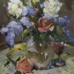 Guido Frick - Wine and Roses - Oil - 30 x 24