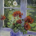 Hedi Moran - Morning Flowers - Oil - 24x18
