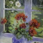 "Morning Flowers - 24"" x 18"" - Oil - Hedi Moran"