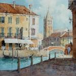 "Ian Ramsay - Rio San Barnaba, Italy - Watercolor - 10.5"" x 14.5"""