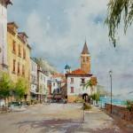 """Ian Ramsay - Campania, Italy - Watercolor - 21"""" x 29"""""""