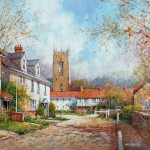 "Ian Ramsay - Glouchestire Village, England - Watercolor - 14"" x 21"""