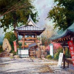 "Ian Ramsay - Kune Shrine, Japan - Watercolor - 21"" x 14"""