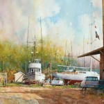 "Ian Ramsay - Moss Landing, California - Watercolor - 14"" x 21"""