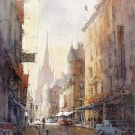 "Ian Ramsay - Edinburgh, Scotland - Watercolor - 16"" x 13"""