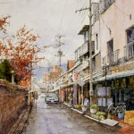 "Ian Ramsay - Morioka, Japan - Watercolor - 18"" x 14"""
