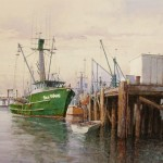 "Ian Ramsay - Sea Wave, Moss Landing - Watercolor - 18"" x 24"""