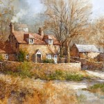 "Ian Ramsay - Wells, Somerset - Watercolor - 10"" x 14"""