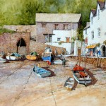 "Ian Ramsay - Clovelly, Devon - Watercolor - 14"" x 21"""