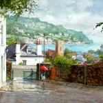 "Ian Ramsay - Dartmouth, Devon - Watercolor - 18"" x 26"""
