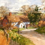 "Ian Ramsay - Tudor Farmhouse, Rommey - Watercolor - 14"" x 21"""