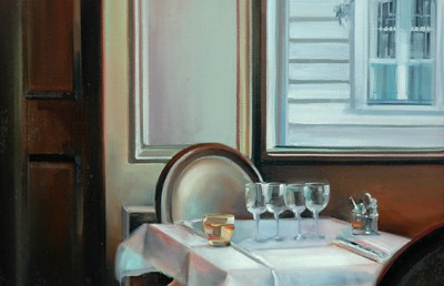 "Le Fregate, Rue de Bac - 36"" x 24""- Oil on Canvas - Thalia Stratton"