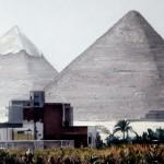 """Pyramids in Giza - 15"""" x 21"""" -Pastel - Dewitt Whistler Jayne"""