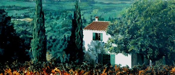 "La Maison Blanc - 24"" x 30"" - Oil - DeWitt Whistler Jayne"
