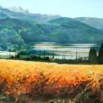 "Autumn Below the Dentelles - 16"" x 22"" - Pastel - DeWitt Whistler Jayne"