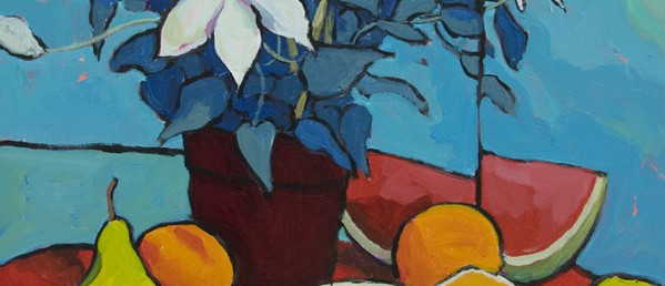 "Clematis, Pears, Oranges, Watermelon - 24"" x 18"" - Angus Wilson"