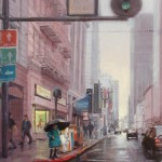 "Rainy Morning - 24"" x 18"" - Oil - Hye Seong Yoon"