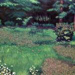 """Catlin Woods"" - Reduction Woodcut Print - 17.25"" x24"" - Gordon Mortensen"
