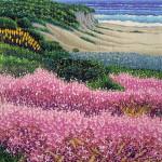 """Carmel Seashore""- 10"" x 8"" - Reduction Woodcut Print - Gordon Mortensen"