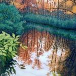 """Audubon Sanctuary""- 20"" x 15"" - Reduction Woodcut Print - Gordon Mortensen"
