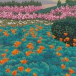 """March, Carmel Point"" - 10"" x 8"" - Reduction Woodcut Print - Gordon Mortensen"
