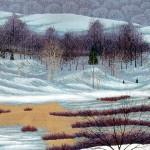"""Linden Hills"" - 19"" x 26""- Reduction Woodcut Print - Gordon Mortensen"