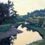 """""""Loch Raven"""" - 19"""" x 26"""" - Reduction Woodcut Print - Gordon Mortensen"""