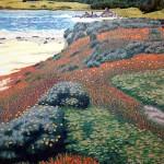 """Monastery Beach""- Reduction Woodcut Print- 32"" x 26"" - Gordon Mortensen"