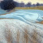 """November""- 17.25"" x 24"" - Reduction Woodcut Print - Gordon Mortensen"