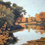 """October on the Crow""- 19"" x 26"" - Reduction Woodcut Print - Gordon Mortensen"
